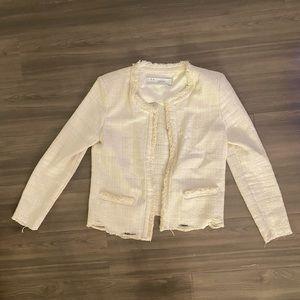 IRO White Boucle crop jacket